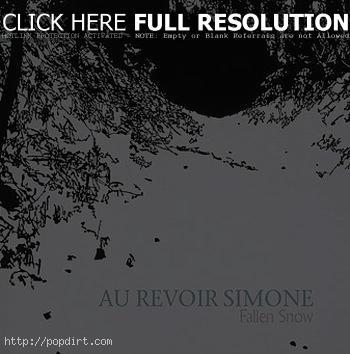 Au Revoir Simone 'Fallen Snow' single cover