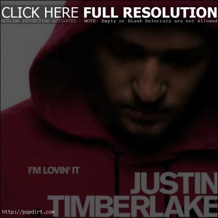 Justin Timberlake 'I'm Lovin It' single cover