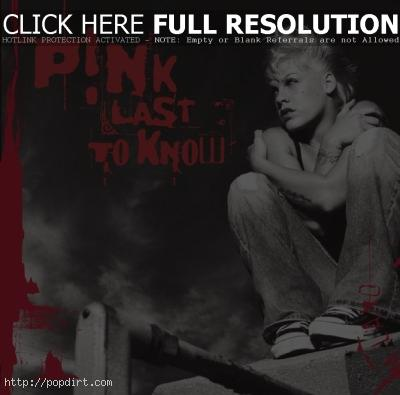 Pink 'Last To Know' single cover
