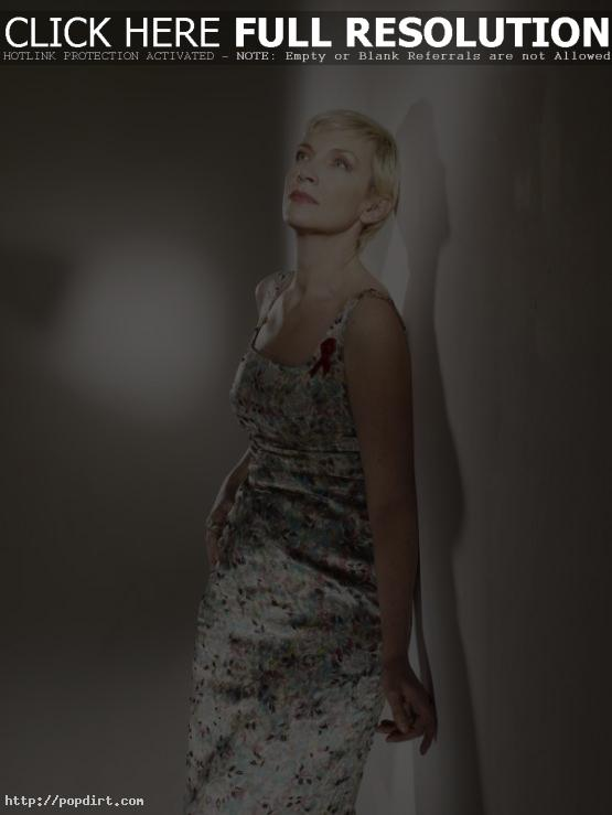 Annie Lennox in a dress