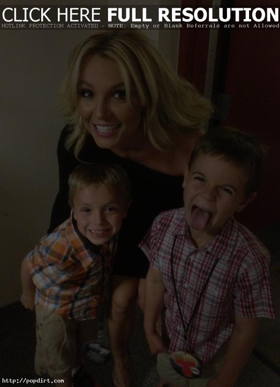 Britney Spears and her kids Sean and Jayden