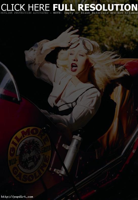 Christina Aguilera racing