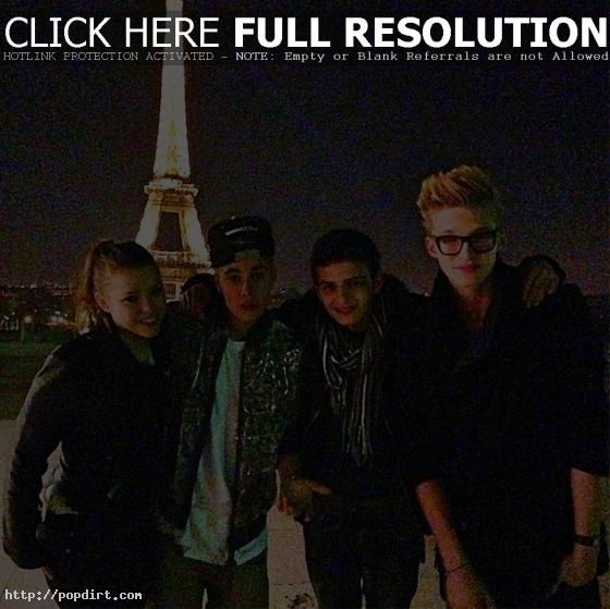 Cody Simpson, Justin Bieber at Eiffel Tower