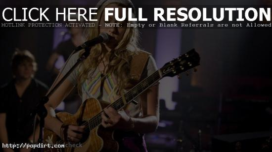 Colbie Caillat performing at Walmart Soundcheck