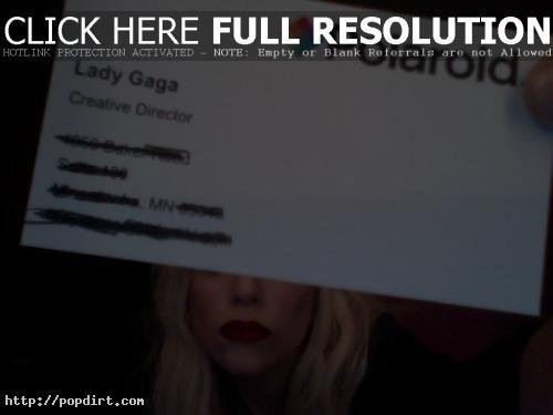 Lady Gaga business card