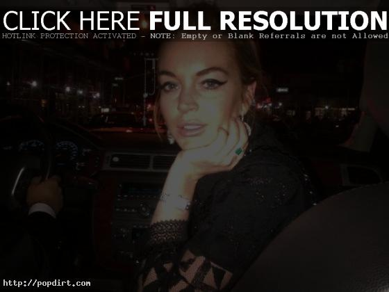 Lindsay Lohan big eyelashes