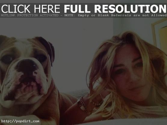 Miley Cyrus with her dog Zigz