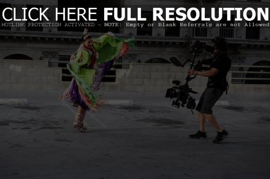 Nelly Furtado filming her 'Big Hoops (The Bigger The Better)' music video