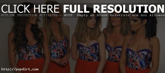 Cheryl Cole, Nadine Coyle, Sarah Harding, Nicola Roberts and Kimberley Walsh of Girls Aloud on their 'Something New' music video shoot