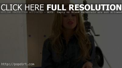Kimberley Walsh wearing and talking about denim during a photo shoot