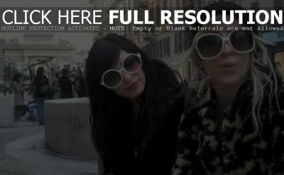 Lisa and Jess Origliasso of The Veronicas in Italy